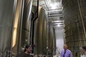 Dogfish Head fermenting and aging room